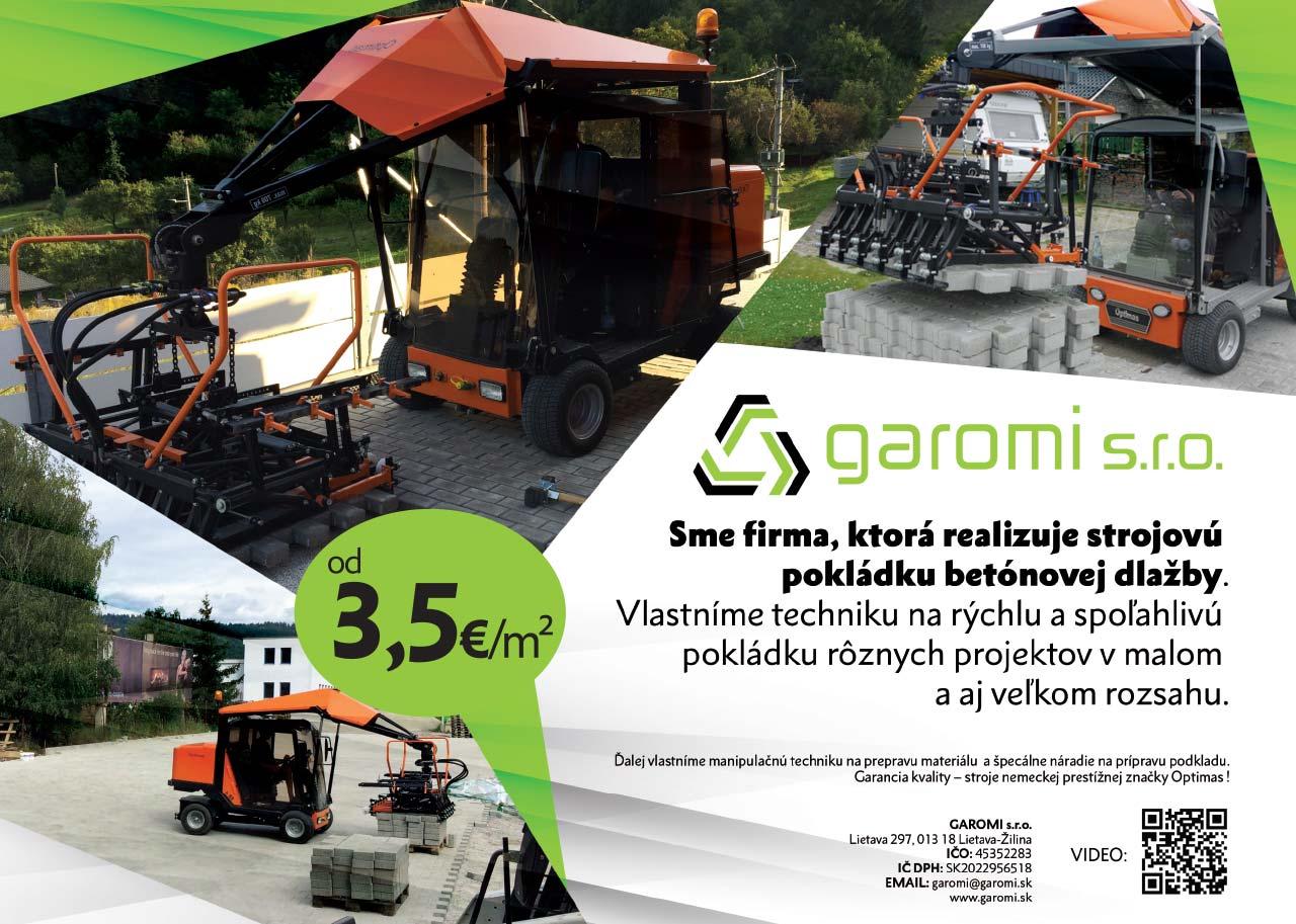 Pokládka betónovej dlažby - Garomi